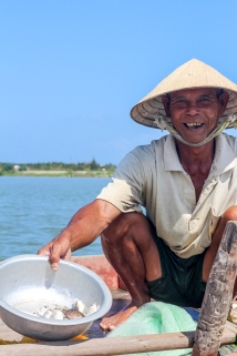 Smiling Vietnamese Fisherman